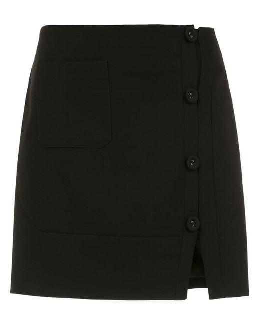 Egrey - Black Buttoned Skirt - Lyst