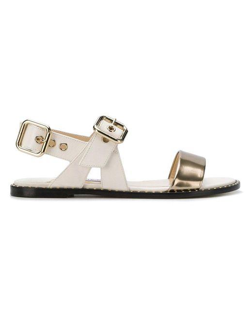 9759ef36c989 Jimmy Choo - White Astrid Flat Sandals - Lyst ...