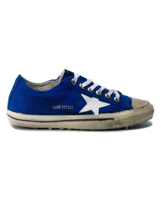 Golden Goose Deluxe Brand - Blue 'v-star 2' Sneakers - Lyst