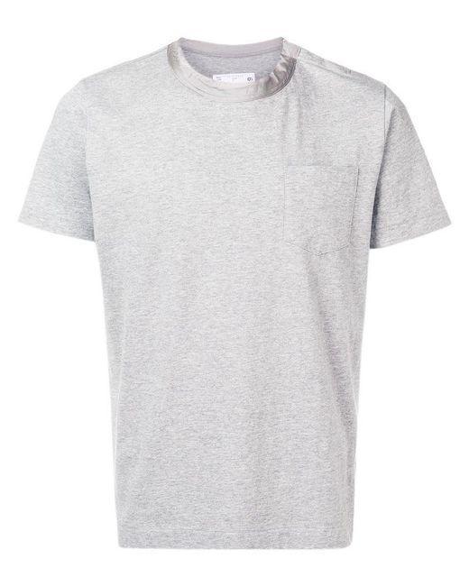 Sacai - Gray Classic Pocket T-shirt for Men - Lyst