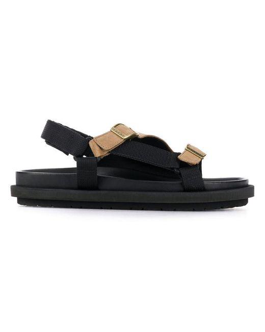 Sacai - Black Sandalen in Colour-Block-Optik for Men - Lyst