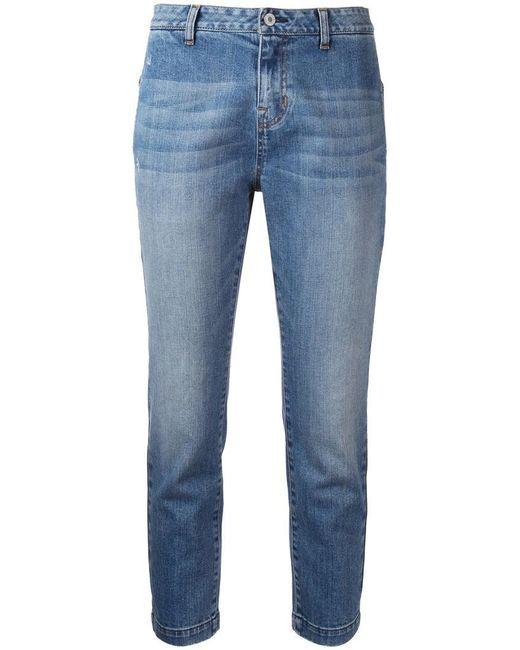 Nili Lotan | Blue Cropped Jeans | Lyst
