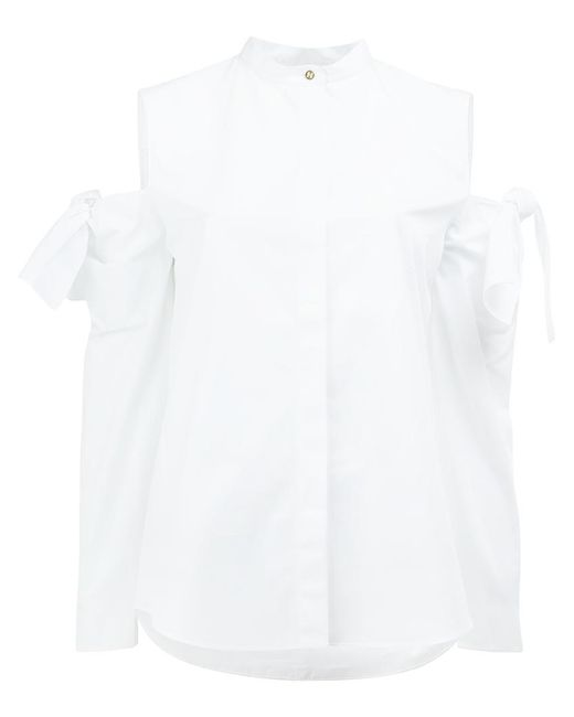 Maison Rabih Kayrouz | White Cut-out Sleeve Shirt | Lyst
