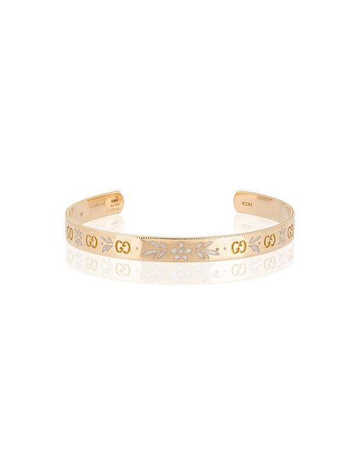 Gucci - Metallic Icon Bracelet In Yellow Gold - Lyst