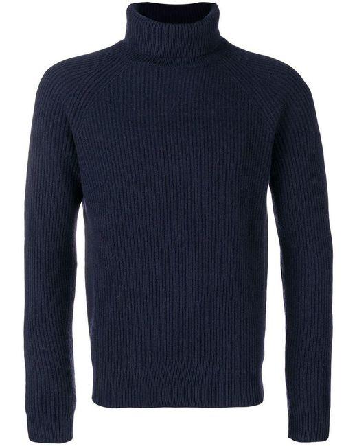 Zanone - Blue Turtleneck Sweater for Men - Lyst