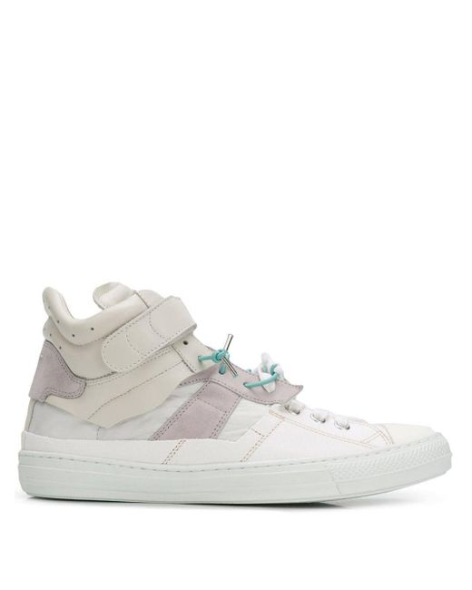 Maison Margiela White Lace-up Wire Sneakers for men