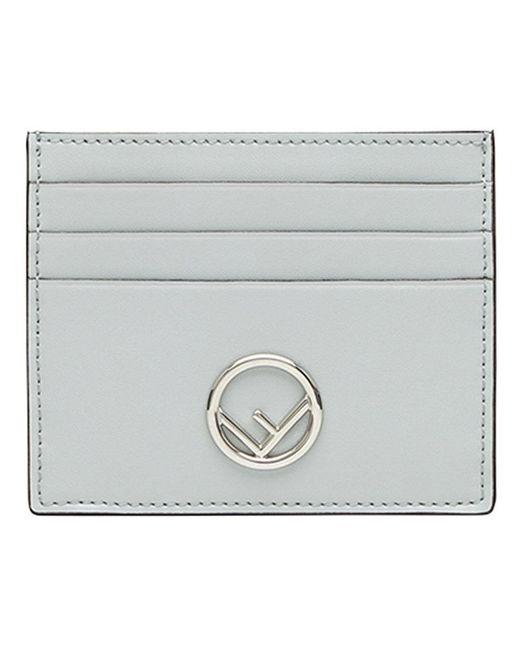 Fendi - Gray Slim Card Holder - Lyst