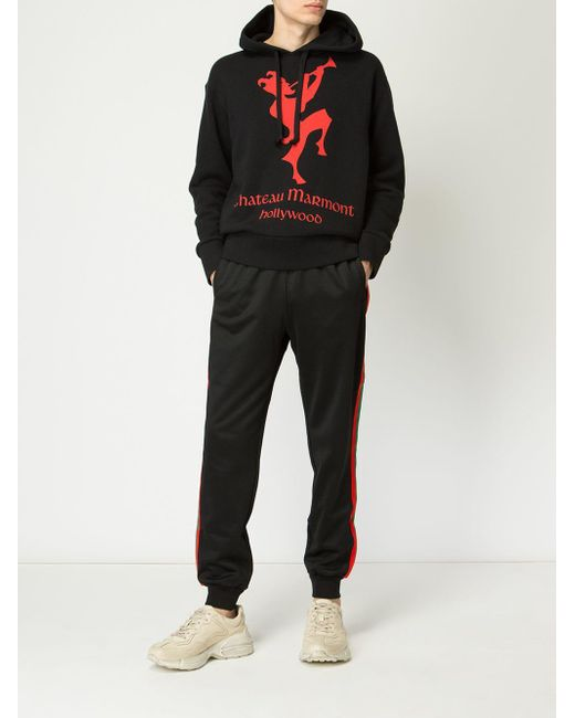 0cf5bb0e6aa ... Gucci - Black Chateau Marmont Cotton-jersey Hoody for Men - Lyst ...