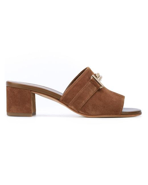 Tod's - Brown Double T Mules - Lyst