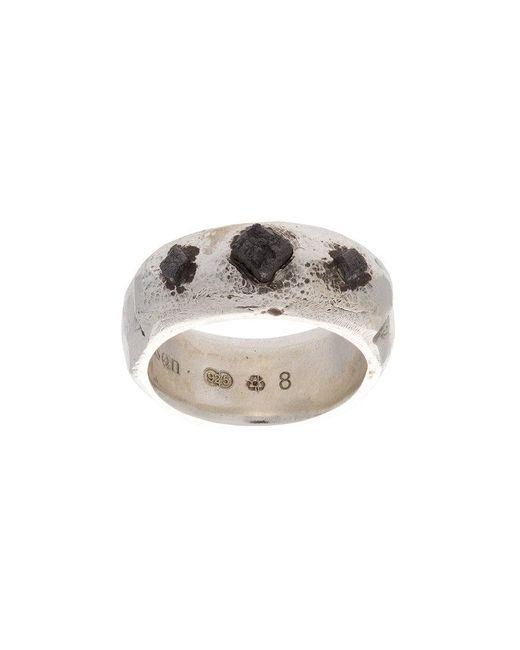 Henson   Metallic Cube Ridge Ring   Lyst
