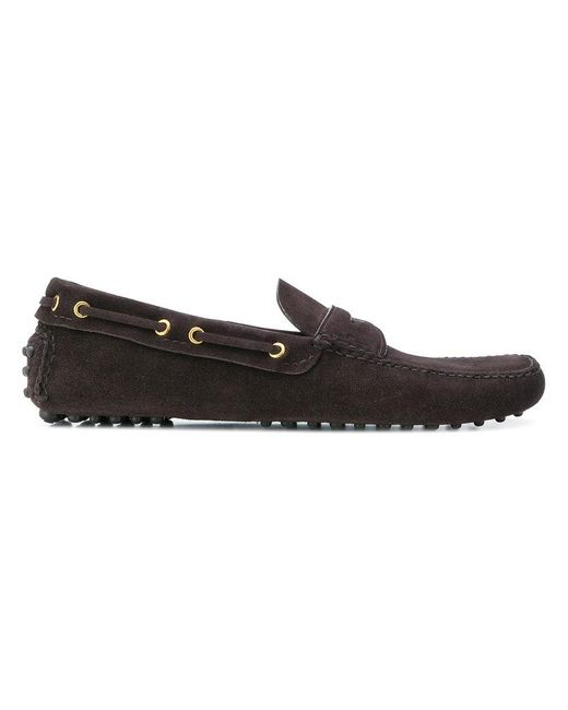 Car Shoe - Brown Classic Slip-on Loafers for Men - Lyst