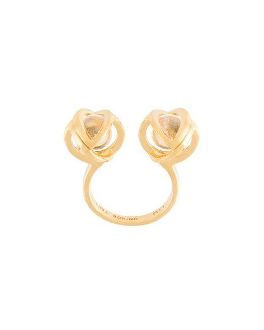 Lara Bohinc - Metallic 'planetaria' Double Ring - Lyst