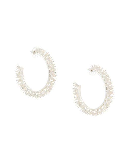 Meadowlark - Metallic Bluebell Large Hoop Earrings - Lyst