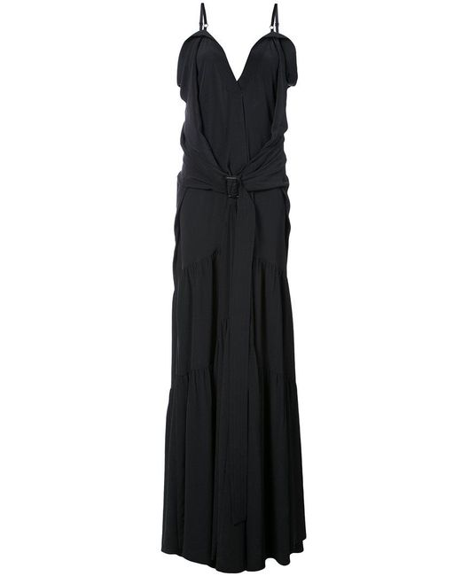Vera Wang - Black Flared Maxi Dress - Lyst