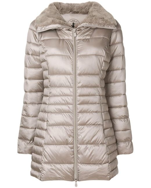 Save The Duck | Gray Padded Coat | Lyst