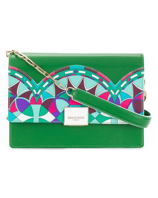colourful design shoulder bag - Green Emilio Pucci b85Dc
