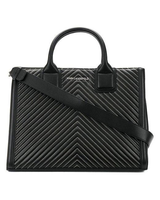 Karl Lagerfeld - Black K/klassik Quilted Tote Bag - Lyst