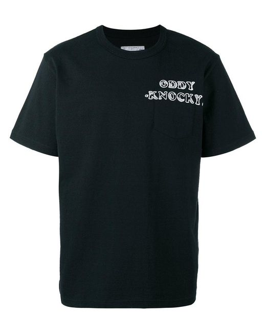 Sacai | Black Chest Emblem T-shirt for Men | Lyst