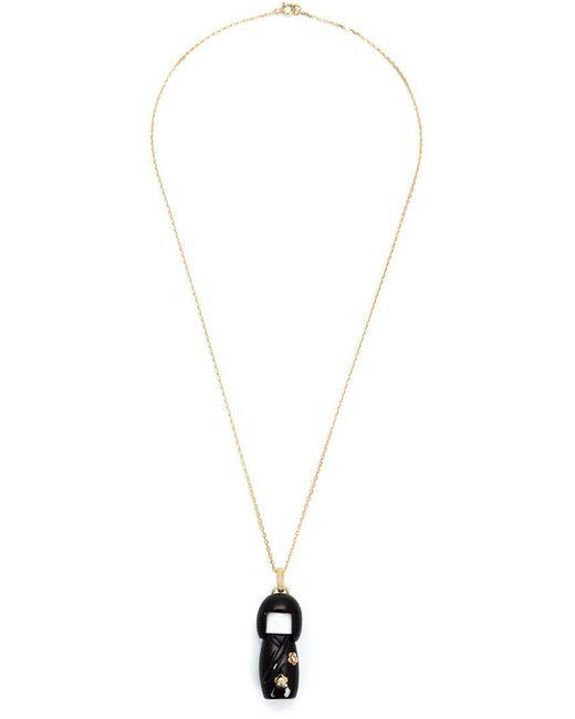Kristin Hanson - Black 'kokeshi Doll'charm Necklace - Lyst