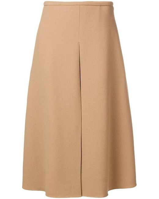 Rochas - Natural Flared Midi Skirt - Lyst