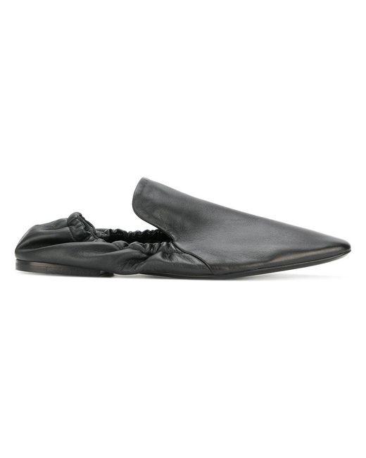 Jil Sander - Black Slip-on Fitted Loafers - Lyst