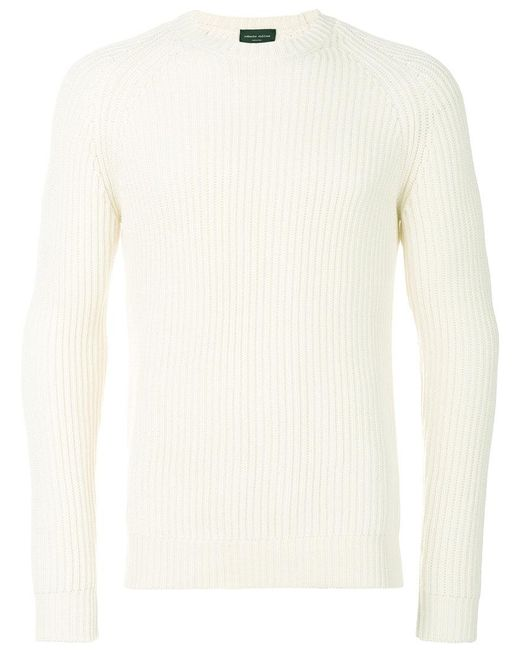 Roberto Collina   White Classic Knitted Sweater for Men   Lyst