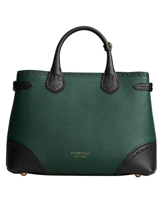 Burberry - Green Medium Banner Tote - Lyst