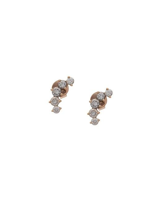 Anita Ko - Metallic Five Diamond Earrings - Lyst