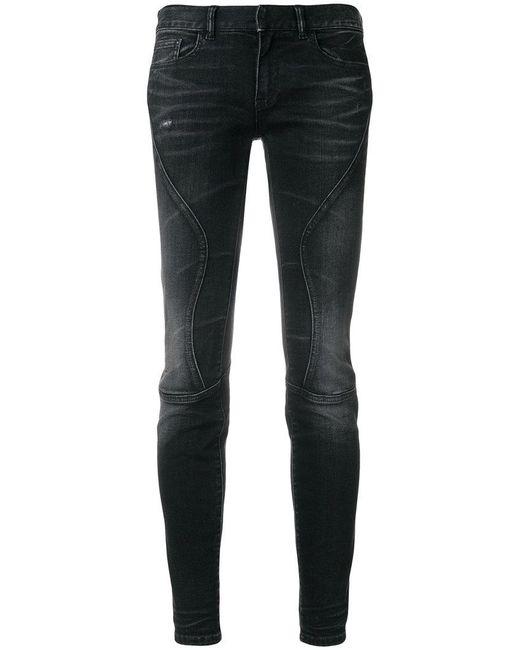 Faith Connexion - Black Panelled Skinny Jeans - Lyst