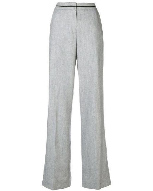 Karl Lagerfeld - Gray Tailored Palazzo Pants - Lyst