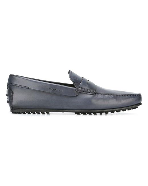 Tod's - Blue 'city Gommino' Loafers for Men - Lyst