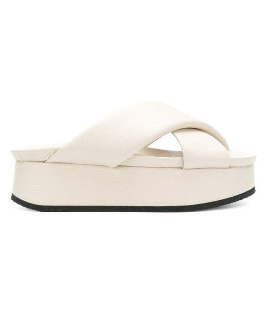 Peter Non - White Open-toe Platform Sandals - Lyst
