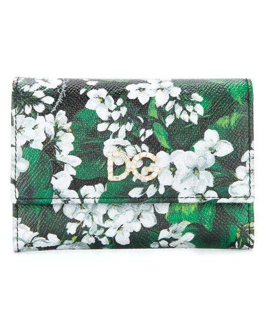 Dolce & Gabbana - Black White Geranium Print Continental Wallet - Lyst