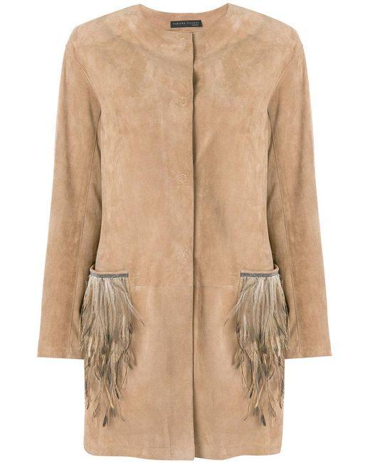 Fabiana Filippi | Natural Feather Embellished Coat | Lyst
