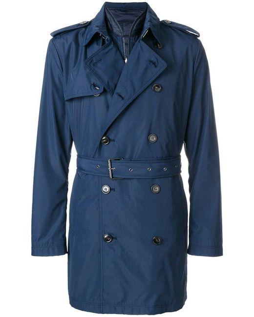 c9ddb3badaf2 Michael Kors - Blue Belted Trench Coat for Men - Lyst ...