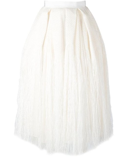 Maison Rabih Kayrouz | Multicolor Tassel Pleated Skirt | Lyst