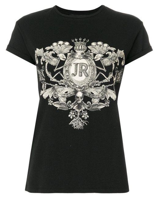 John Richmond - Black Logo Patch T-shirt - Lyst