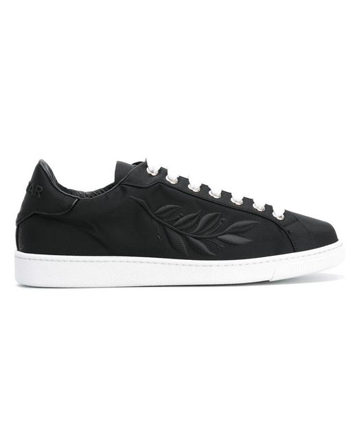 DSquared² | Black 24-7 Star Embroidered Leaf Sneakers for Men | Lyst