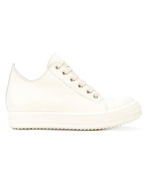 Rick Owens - White Lace-up Sneakers - Lyst