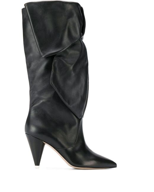The Attico Black Ruched Boots