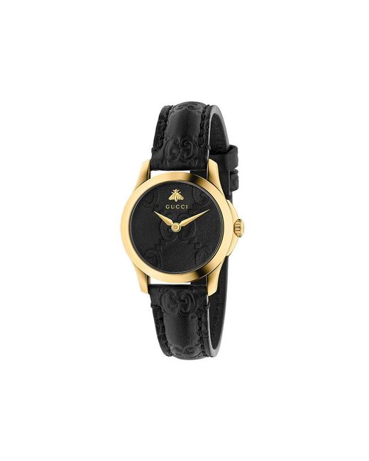 cc87677aba9e9 Lyst - Gucci G-timeless 27mm Watch in Black - Save 10%