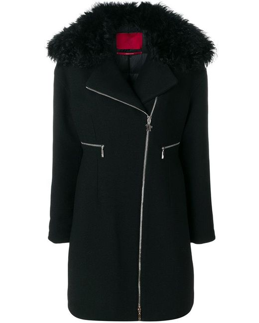Moncler Gamme Rouge | Black Zipped Fitted Coat | Lyst