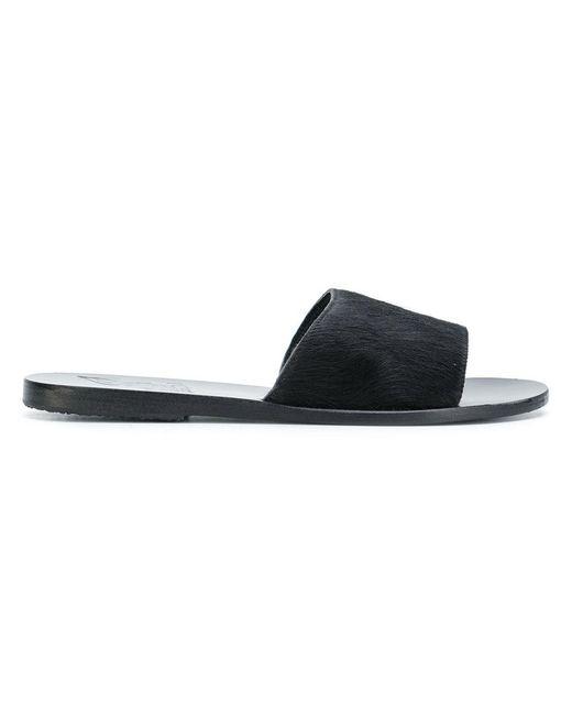 Ancient Greek Sandals - Black Taygete Flat Sandals - Lyst