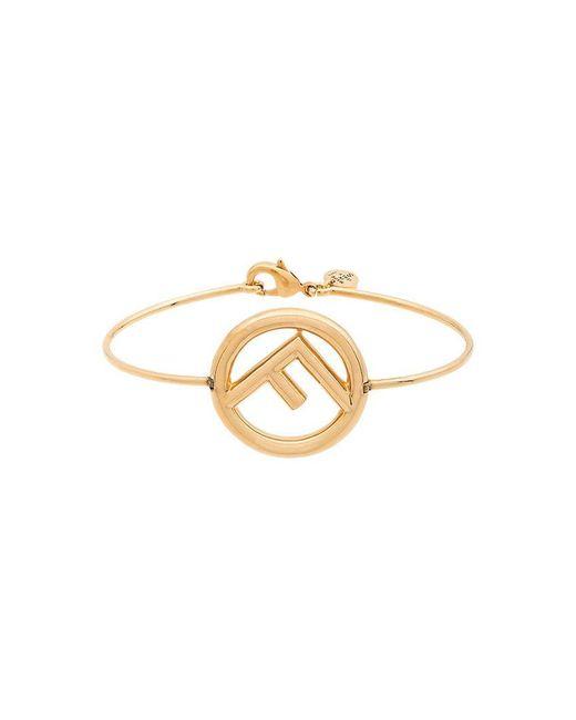 Fendi - Metallic Logo Bracelet - Lyst