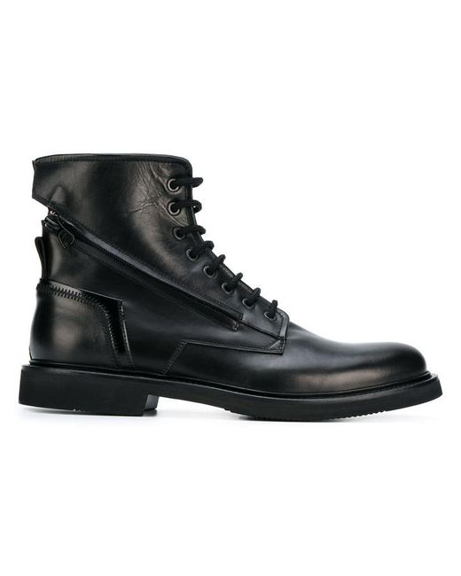 Bruno Bordese - Black Ankle Lace-up Boots for Men - Lyst