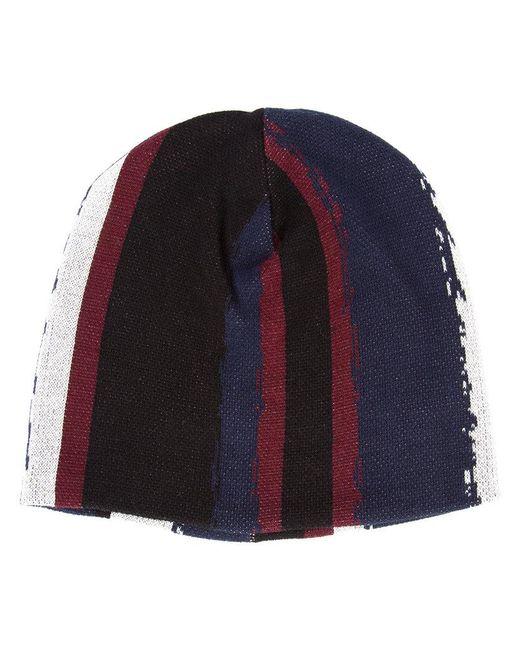 Baja East - Black Printed Stripe Beanie - Lyst