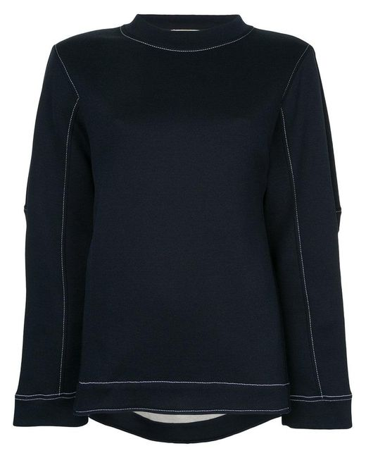 Marni | Blue Top Stitched Sweatshirt | Lyst