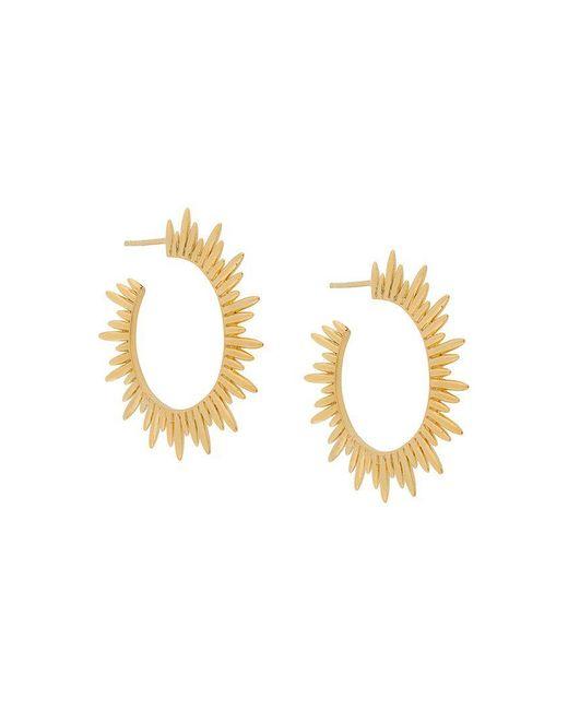Rachel Jackson - Metallic Sunrays Hoop Earrings - Lyst