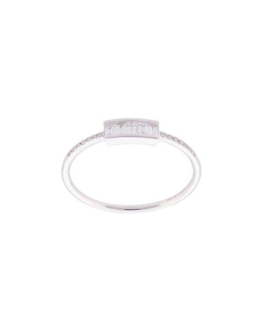 EF Collection - Metallic Anello Baguette Con Diamanti - Lyst