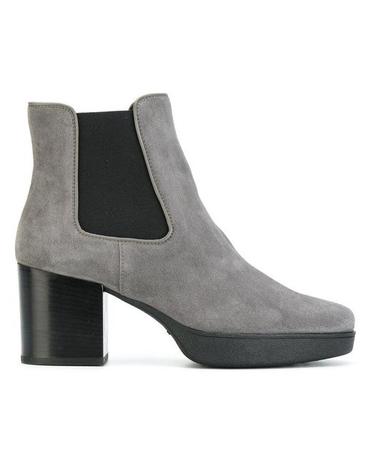 Tod's - Gray Slip-on Platform Boots - Lyst